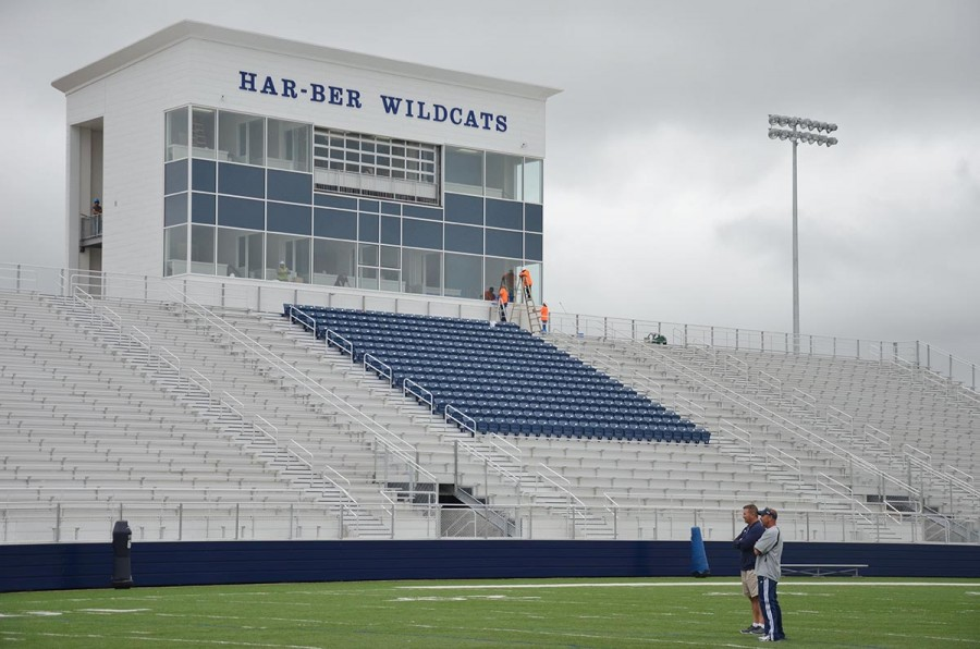 Football booster club manages seating demands