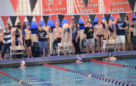 Swim team dives into early morning routine