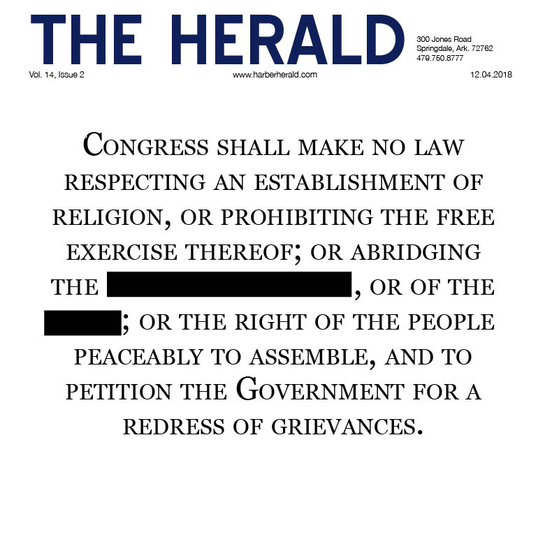 Issue 2 of The Herald did not go to print due to the temporary suspension of the student newspaper. The print version of the paper was scheduled for distribution Dec. 4. Stories may be read online instead.