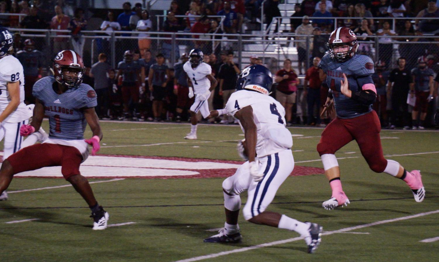 Junior running back Jay Burns rushed for 317 yards against the Springdale Bulldogs Oct. 5 in a conference match-up. The Bulldogs defeated the Wildcats 43-42.