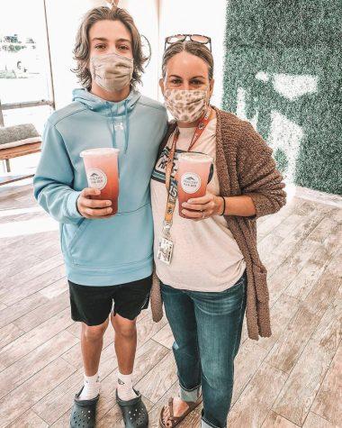 Karla Sprague and son Braydon Sprague visit Healthy Har-Ber.