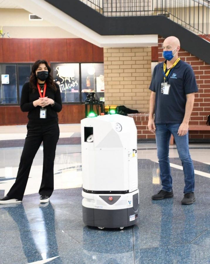 Breezy, the cleaning robot, makes his first ever appearance
